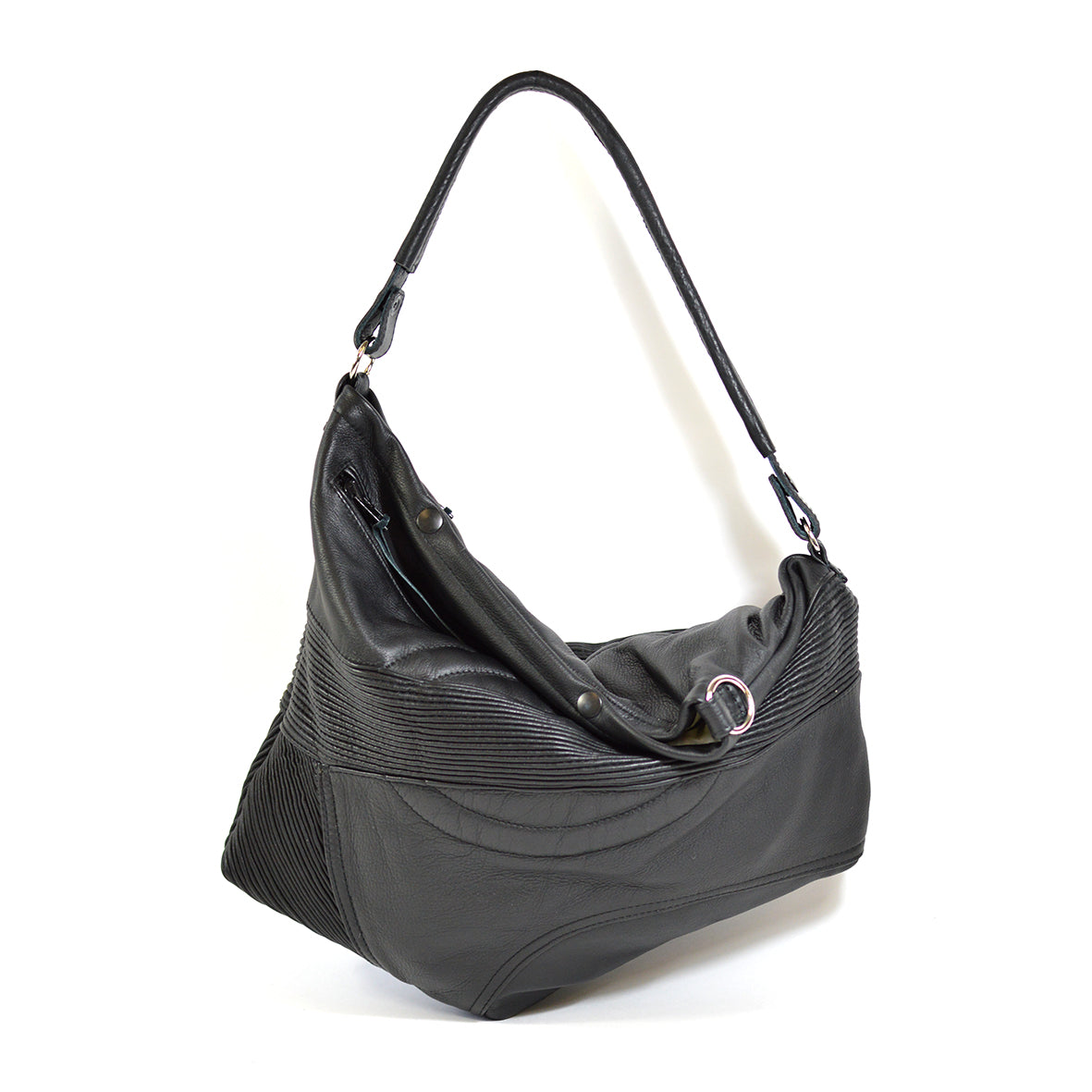 leather biker hobo bag - delacyonline - 1