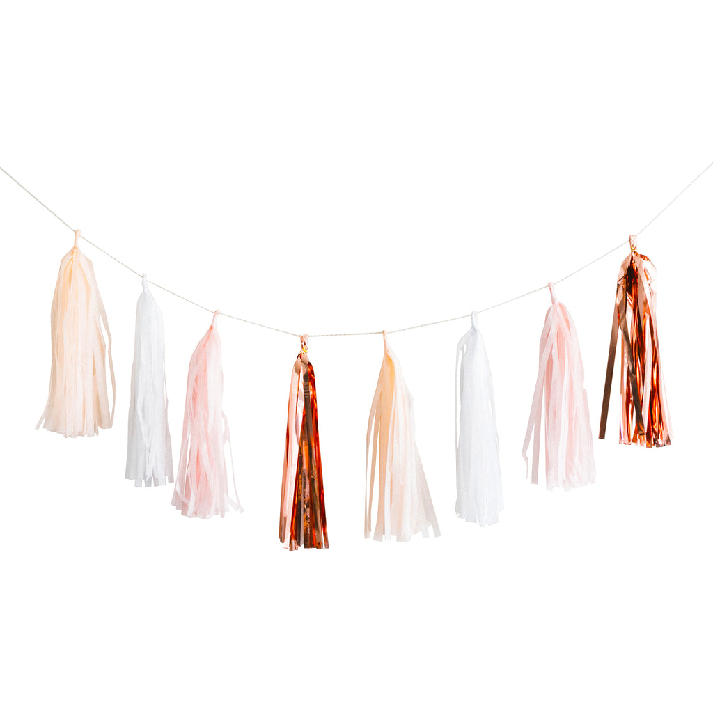 Rose Gold Tassel Garland Set