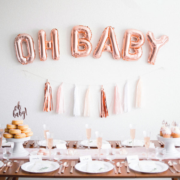 OH BABY Rose Gold Foil Balloons