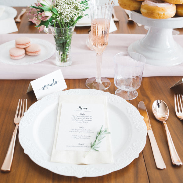 Rose Gold Foil Place Cards