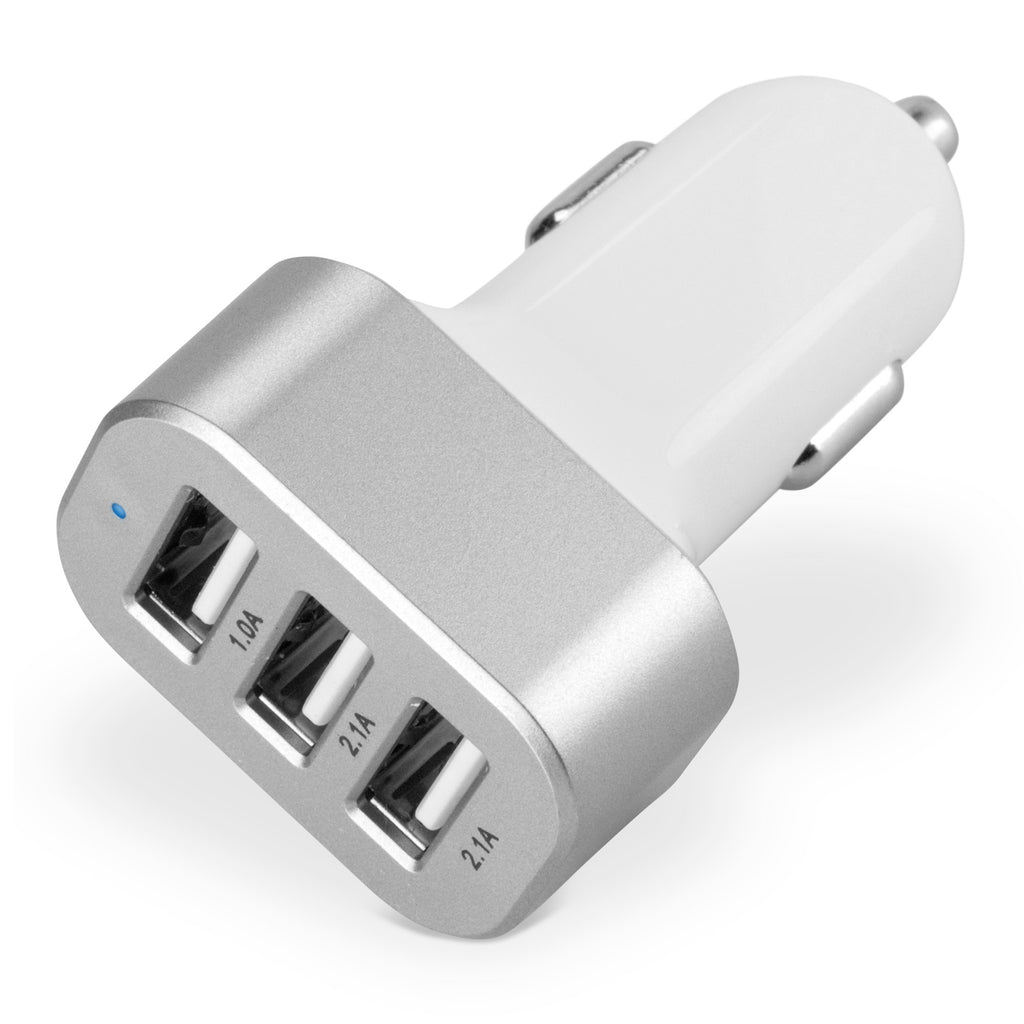 3-Port Micro High Current Car Charger - Apple iPhone 5 Charger