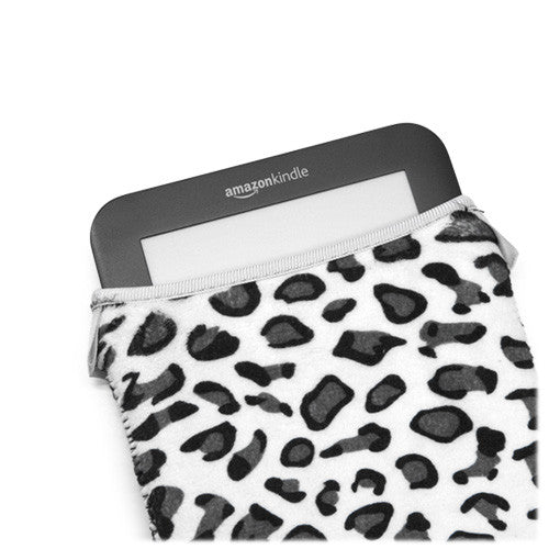 Snow Leopard Plush SlipSuit - Amazon Kindle Touch 3G Case