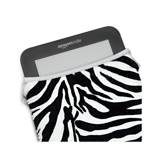 Zebra Plush SlipSuit - Amazon Kindle Touch 3G Case