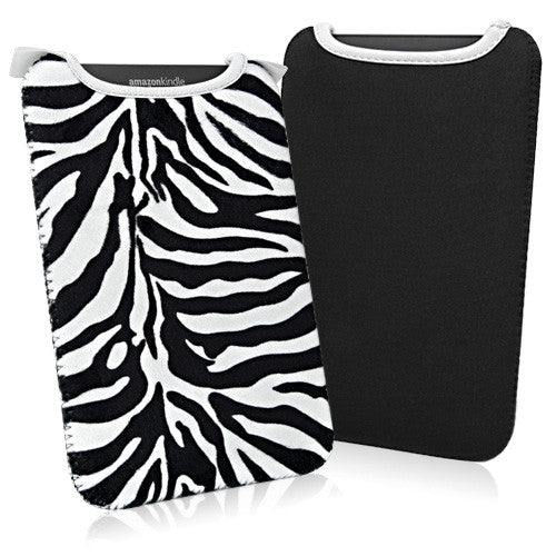 Zebra Plush SlipSuit - HTC Flyer Case