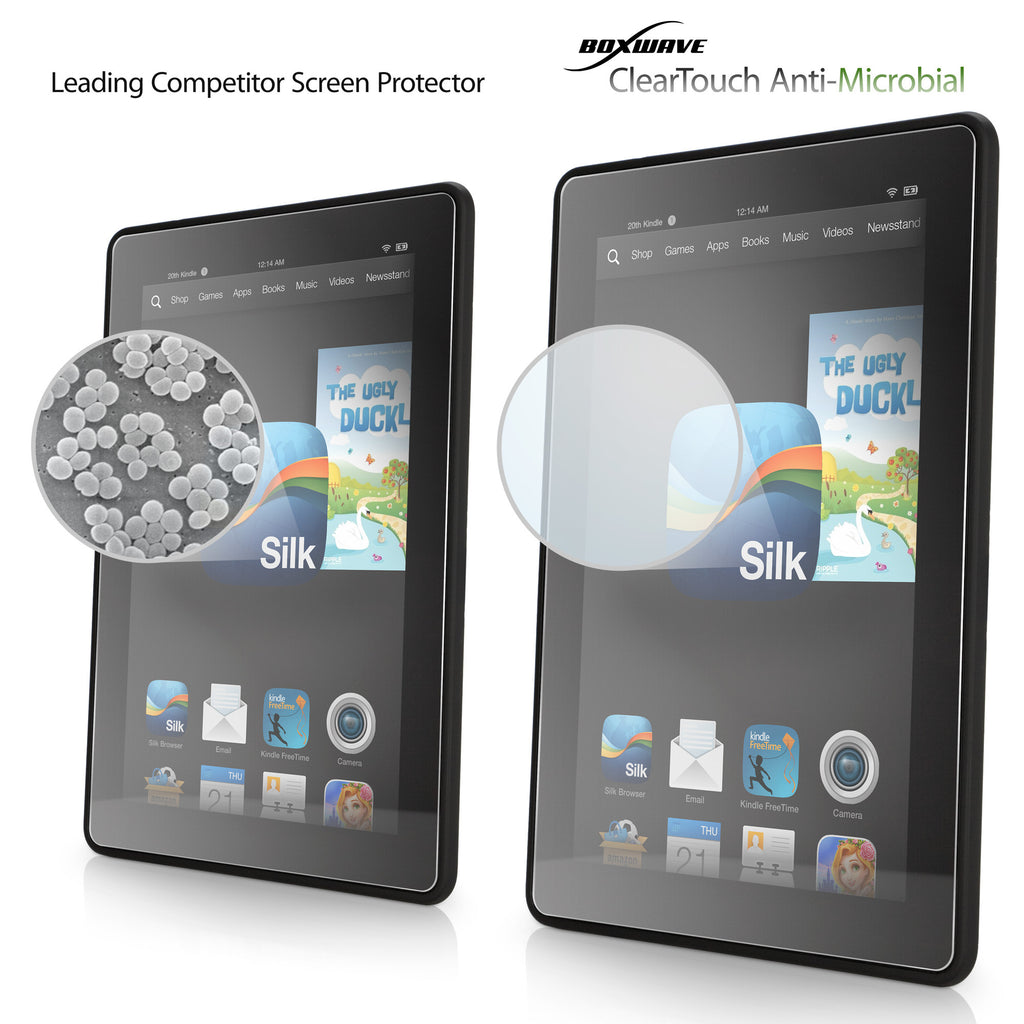 ClearTouch Antimicrobial - Amazon Kindle Fire HD 7.0 (2013) Screen Protector