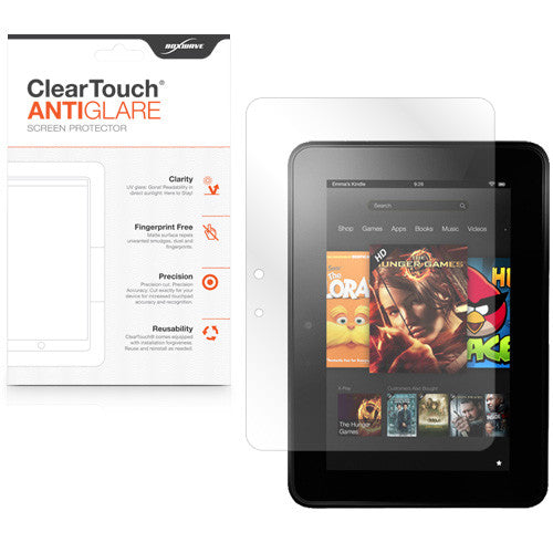 ClearTouch Anti-Glare (2-Pack) - Amazon Kindle Fire HD 7.0 (2012) Screen Protector