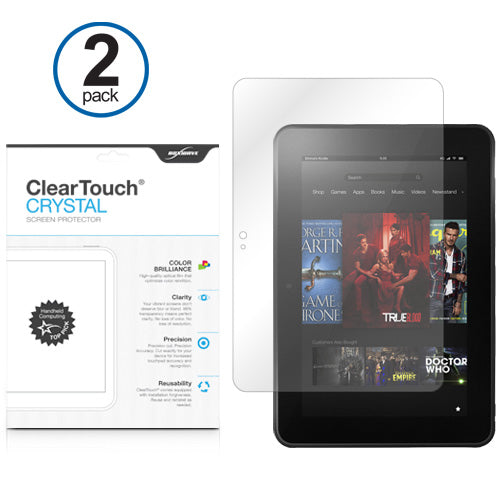"ClearTouch Crystal (2-Pack) - Amazon Kindle Fire HD 8.9"" Screen Protector"