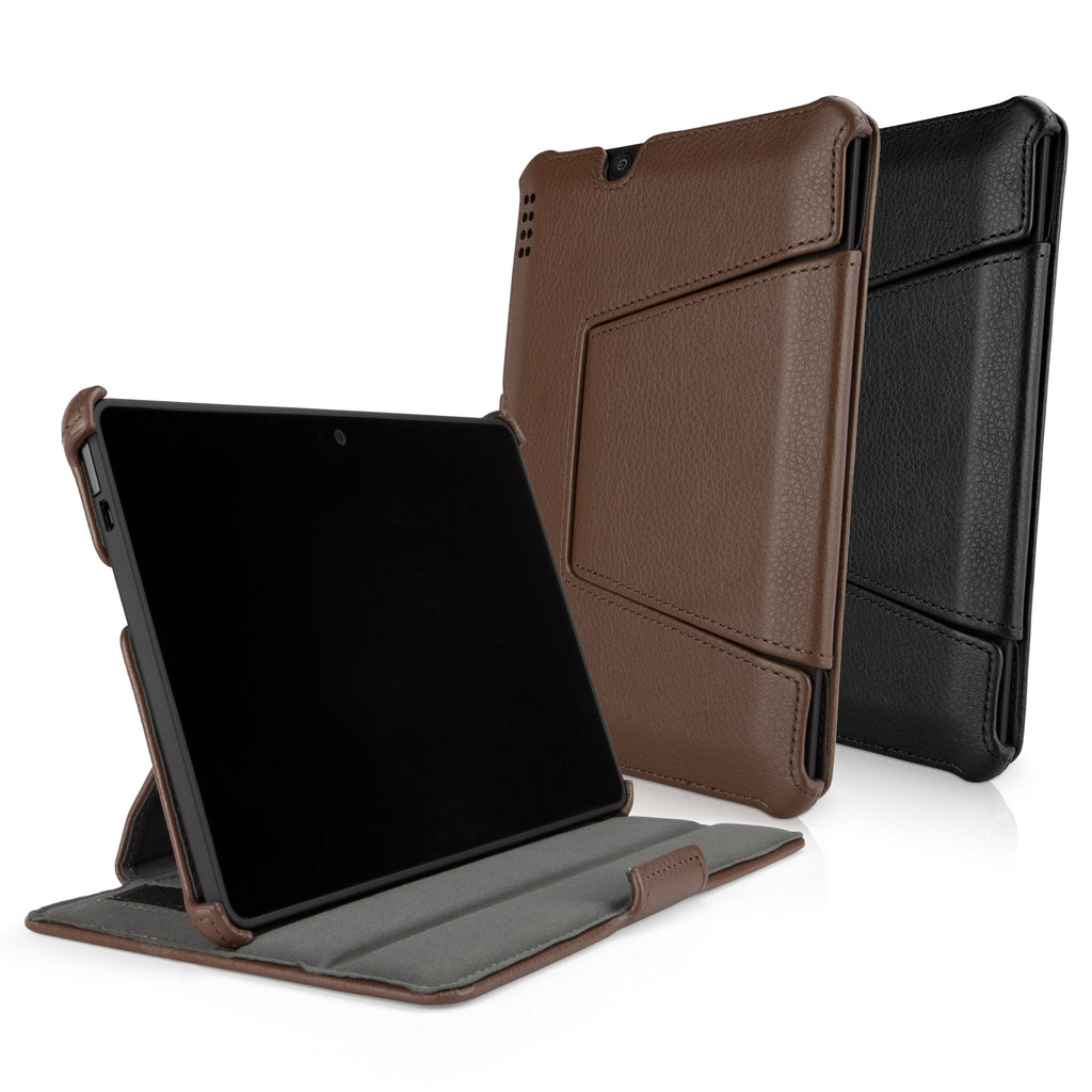 Leather Book Jacket - Amazon Kindle Fire HDX 7.0 Case
