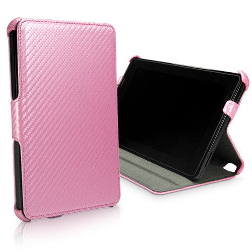 Satin Pink Leather Book Jacket - Amazon Kindle Fire Case
