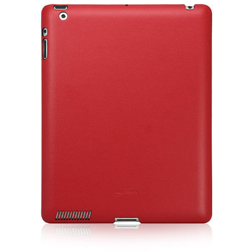 Ardent Red Leather Snap-Fit Shell - Apple iPad 2 Case