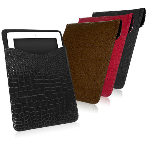 Patent Leather Crocodile Pouch - Apple iPad 2 Case