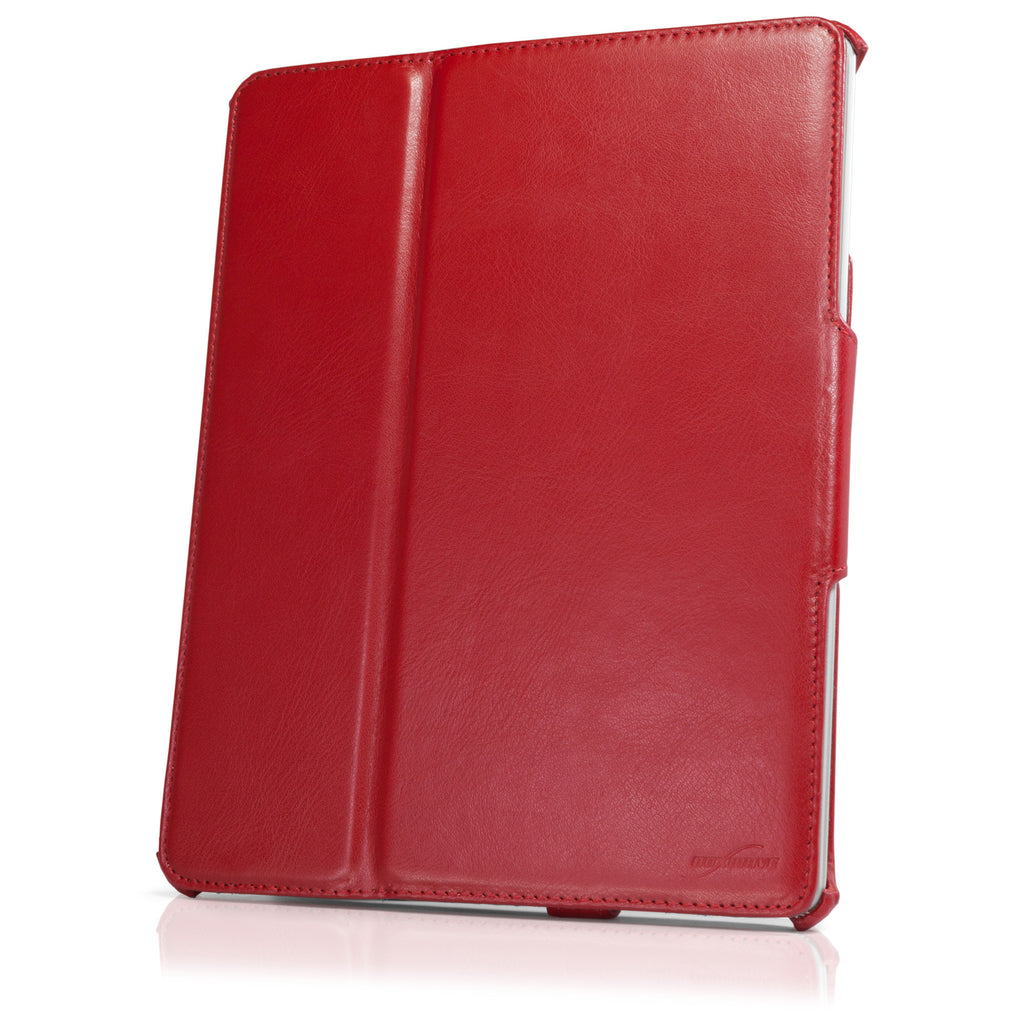 Ardent Red Leather Book Jacket - Apple iPad 4 Case
