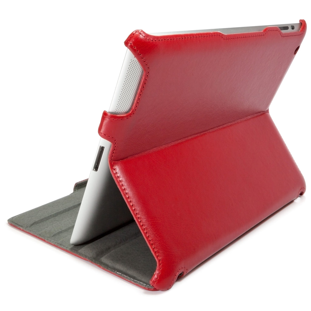 Ardent Red Leather Book Jacket - Apple iPad 3 Case