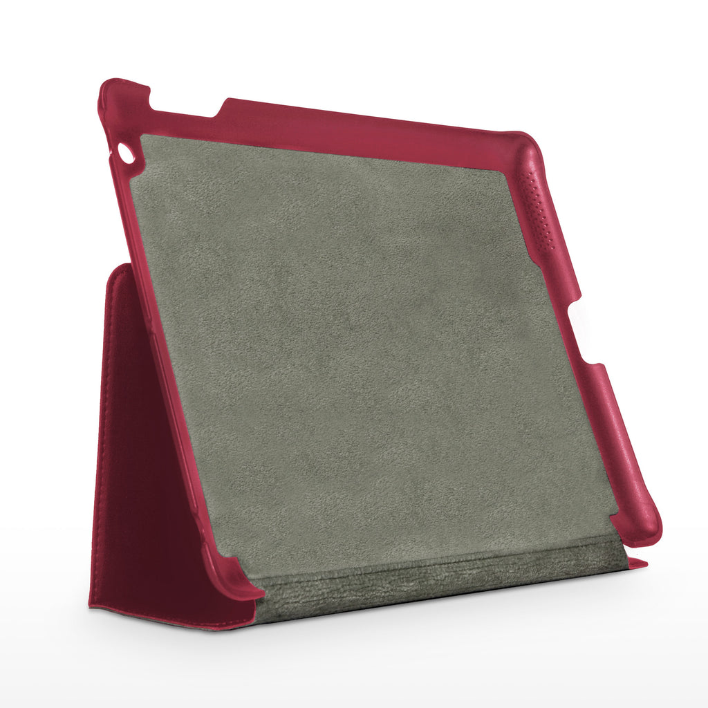 Ardent Red Leather Smart Nuovo iPad Case - Apple iPad 3 Case