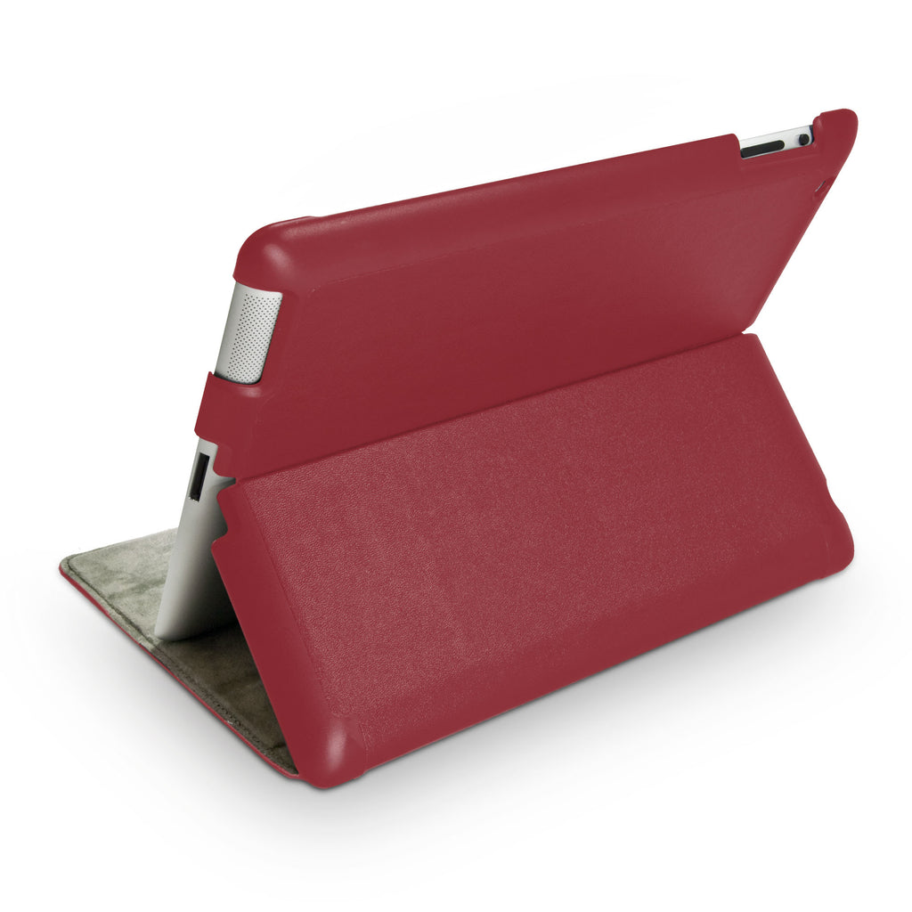 Ardent Red Leather Smart VersaView Case - Apple iPad 3 Case