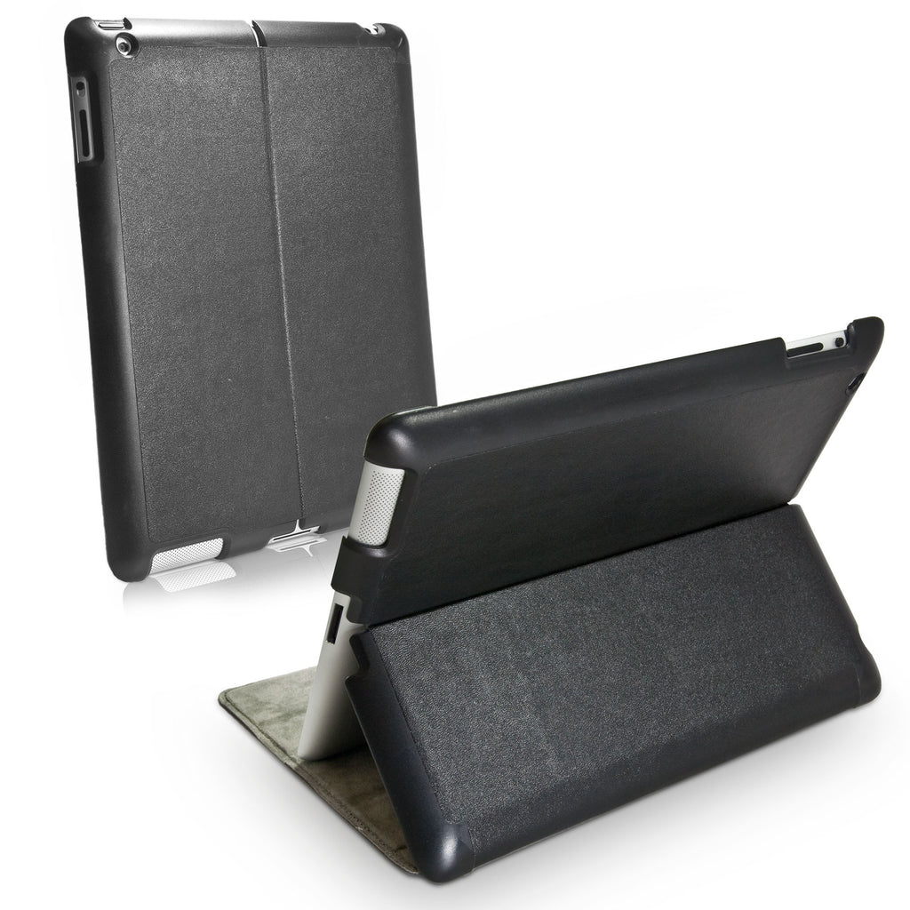 Nero Leather Smart VersaView Case - Apple iPad 3 Case