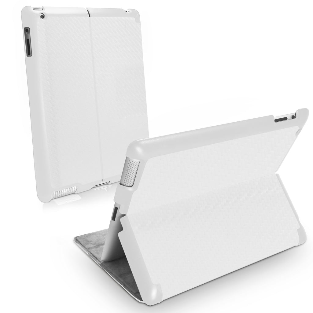 Winter White Leather Smart VersaView Case - Apple iPad 4 Case