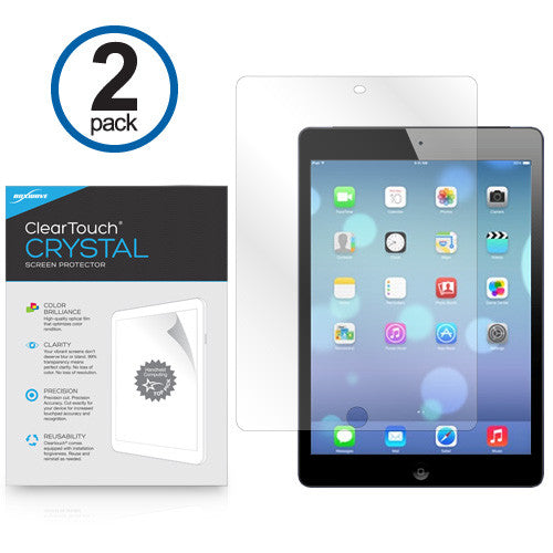 ClearTouch Crystal (2-Pack) - Apple iPad Air Screen Protector