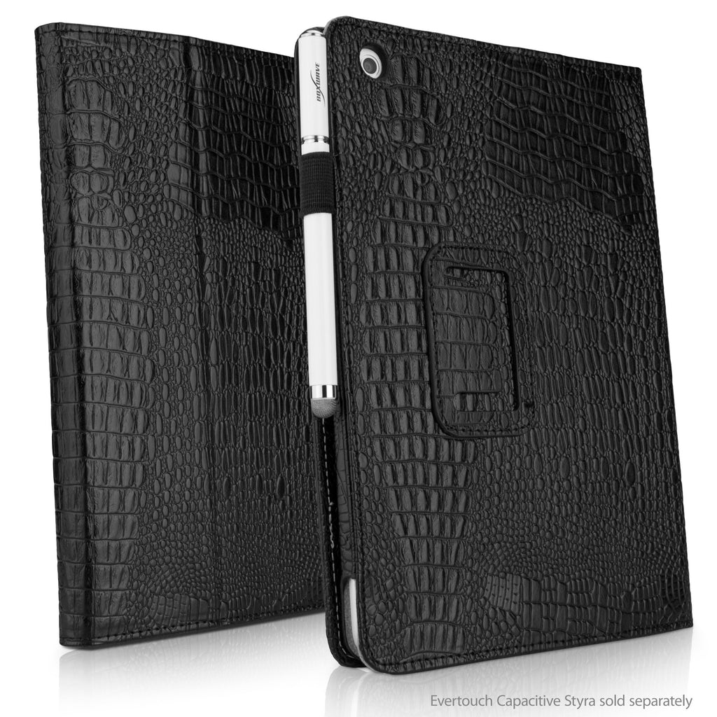 Midnight Crocodile Folio Stand Case with Strap - Apple iPad mini with Retina display (2nd Gen/2013) Case