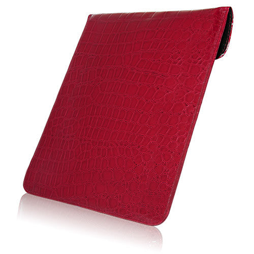 Patent Leather Crocodile iPad Pouch