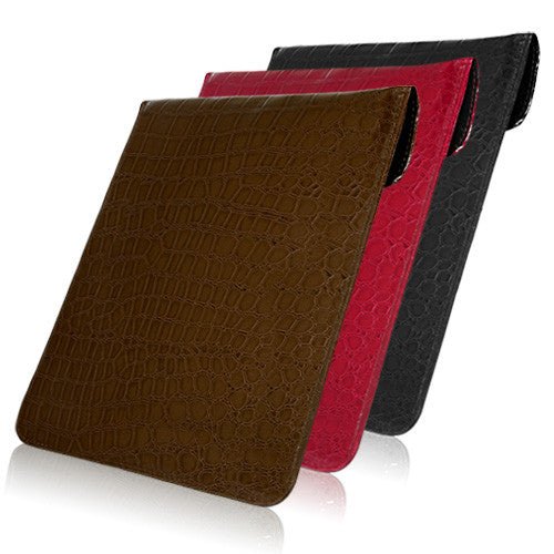 Patent Leather Crocodile Pouch - Apple iPad 3 Case