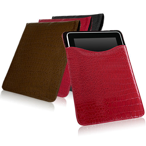 Patent Leather Crocodile Pouch - Apple iPad Case