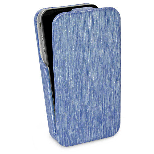 Azure Glimmer Flip Case - Apple iPhone 4 Case