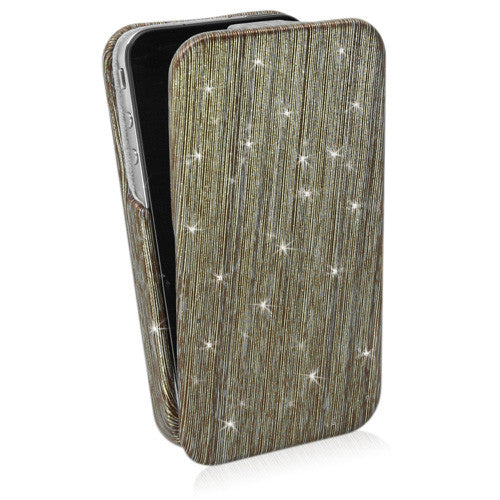 Gold Rain Flip Case - Apple iPhone 4 Case