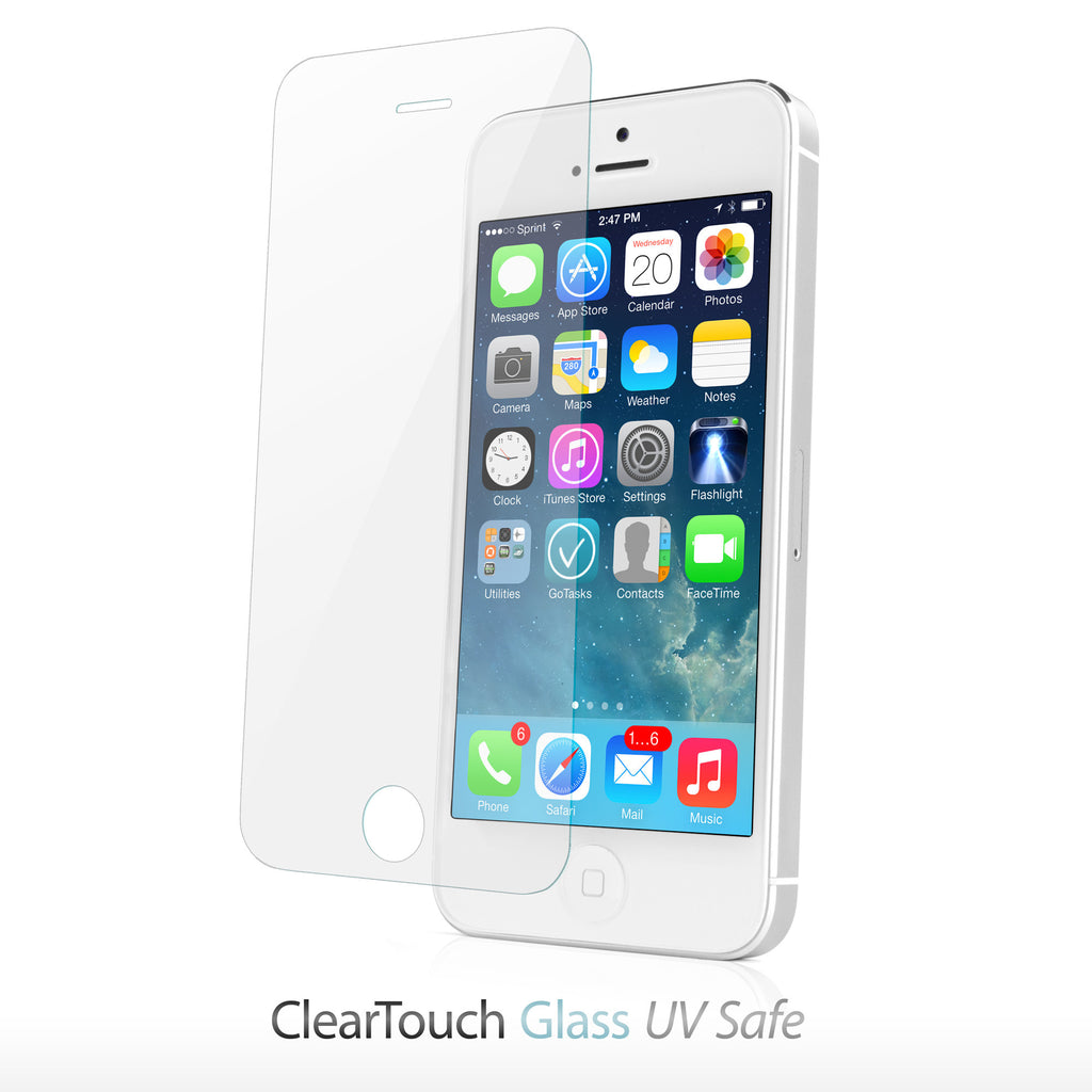 ClearTouch Glass UV Safe - Apple iPhone 5 Screen Protector