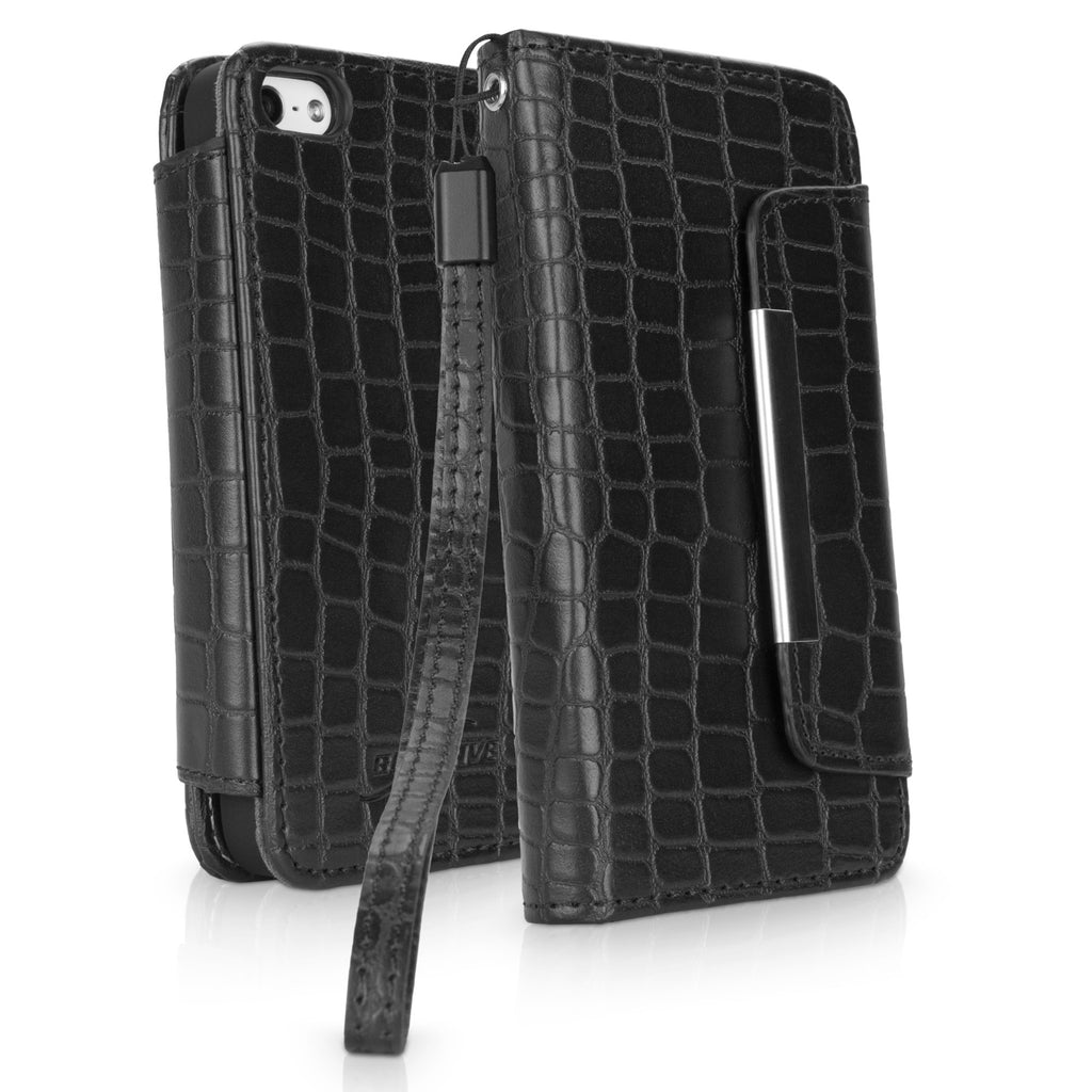 Crocodile Leather Clutch iPhone 5 Case
