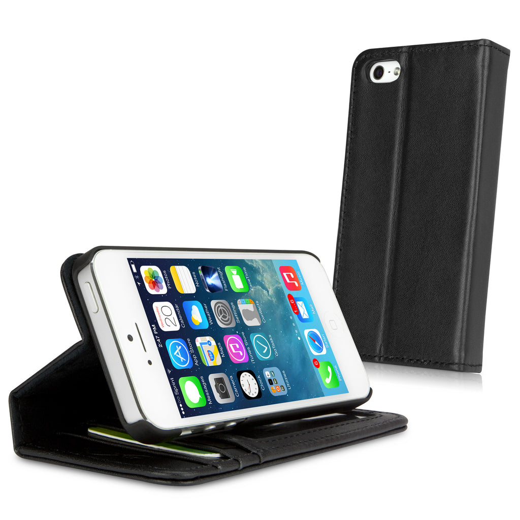 iPhone 5s Designio Leather Wallet Case