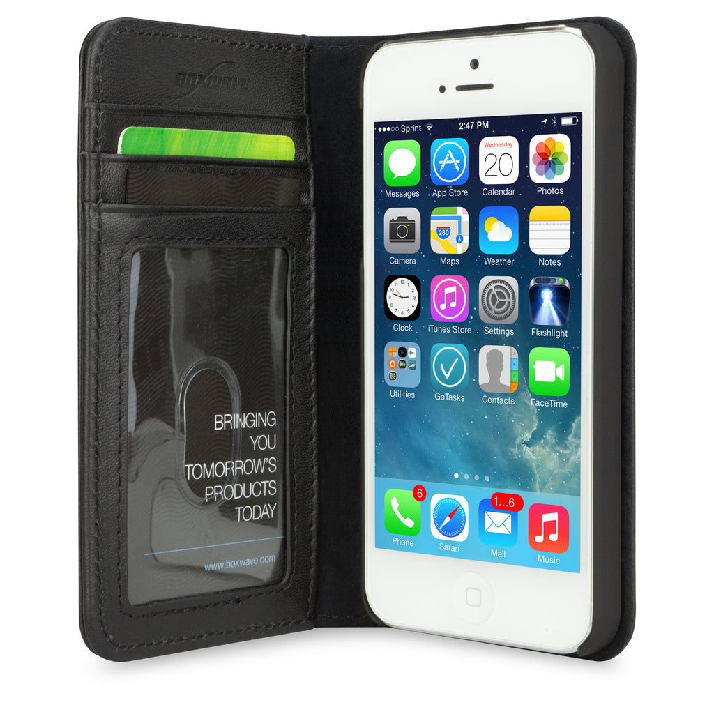Designio Leather Wallet Case - Apple iPhone 5s Case