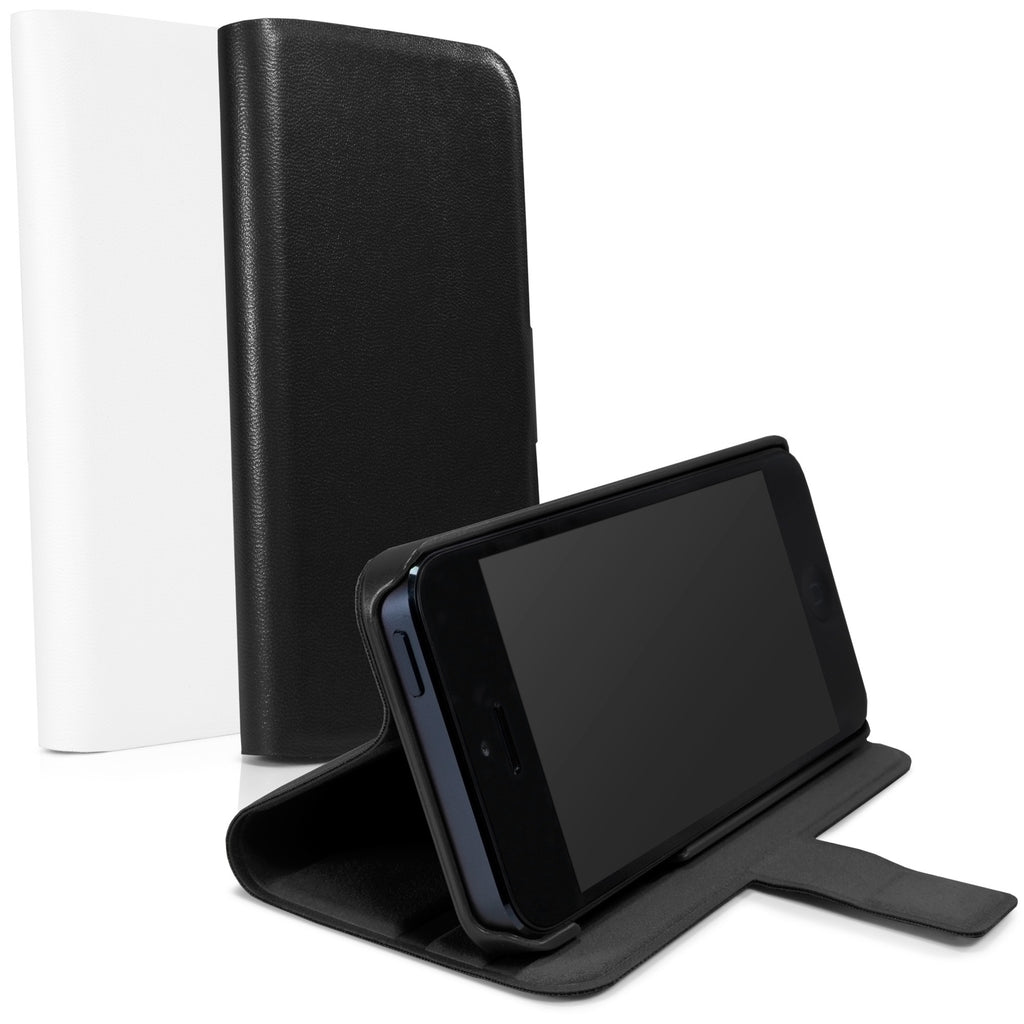 Minimus Leather Wallet Stand - Apple iPhone 5 Case