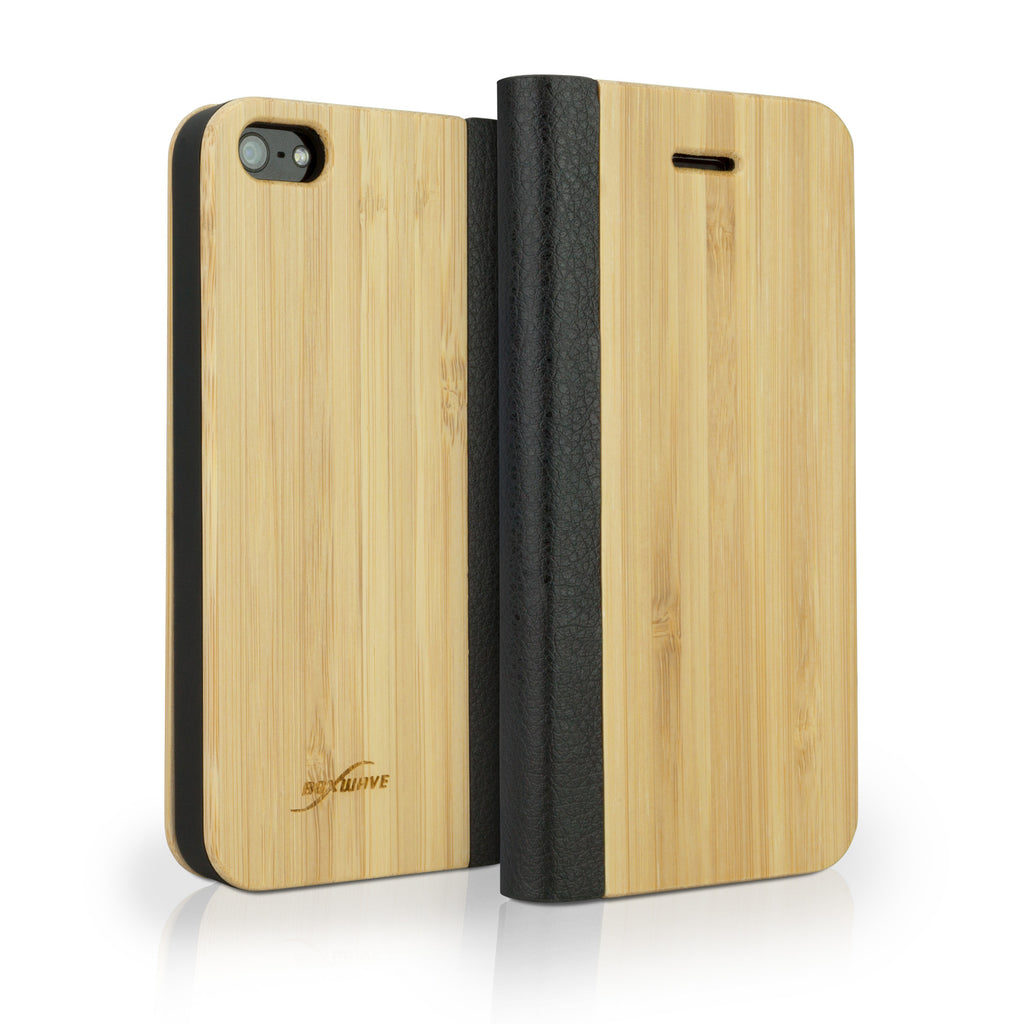True Bamboo Booklet Case - Apple iPhone 5 Case