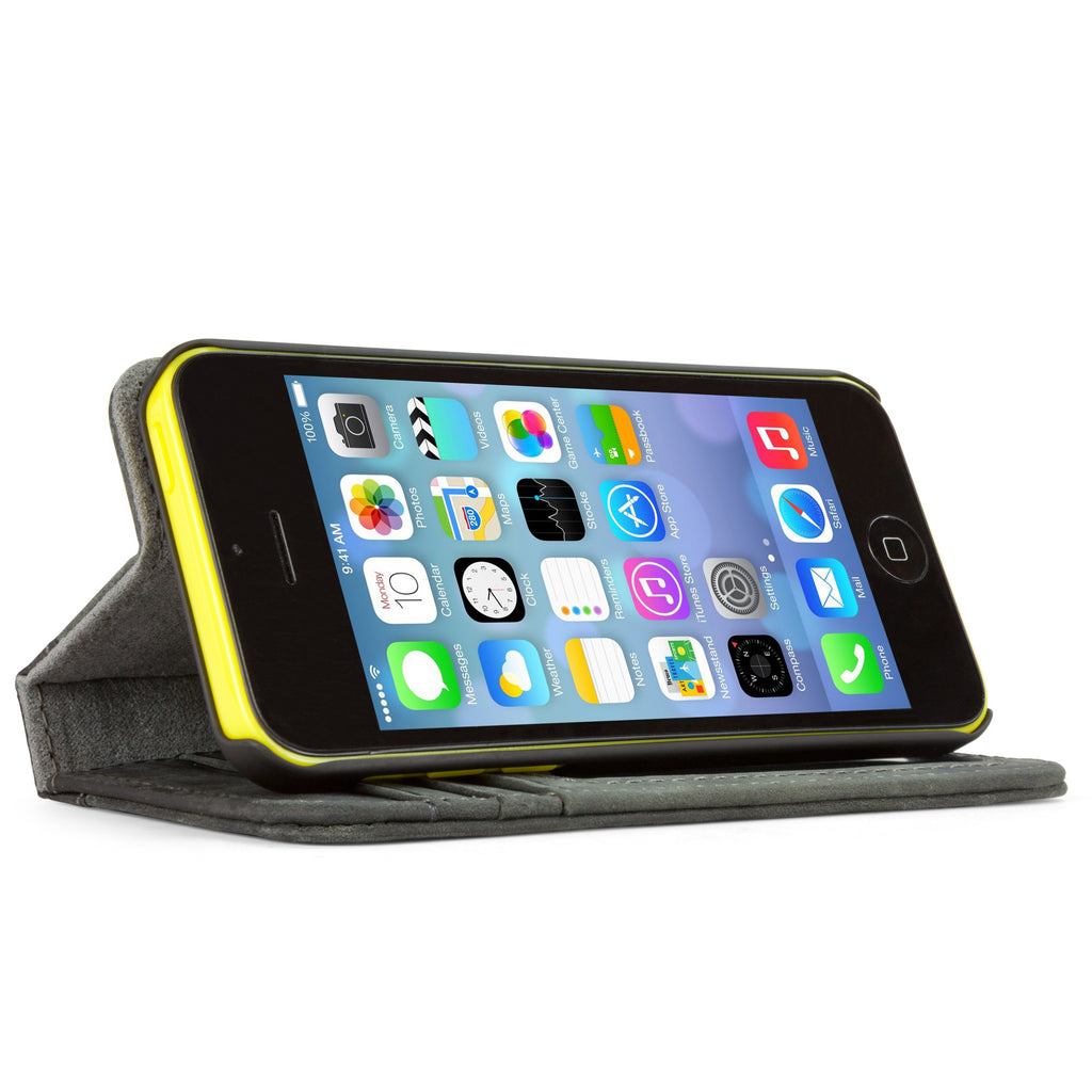 Classic Book Case - Slate Grey - Apple iPhone 5c Case