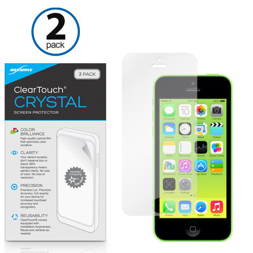 ClearTouch Crystal (2-Pack) - Apple iPhone 5c Screen Protector