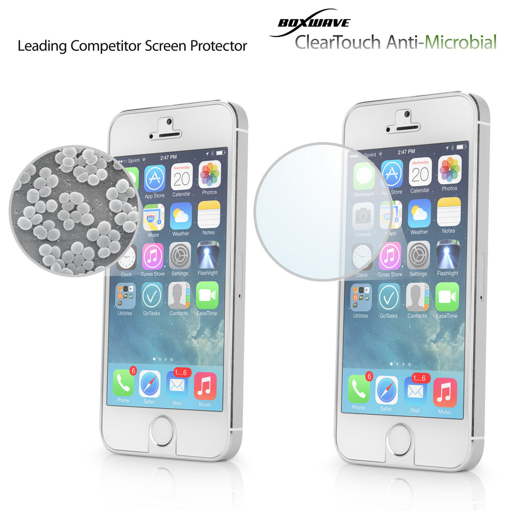 ClearTouch Antimicrobial - Apple iPhone 5 Screen Protector
