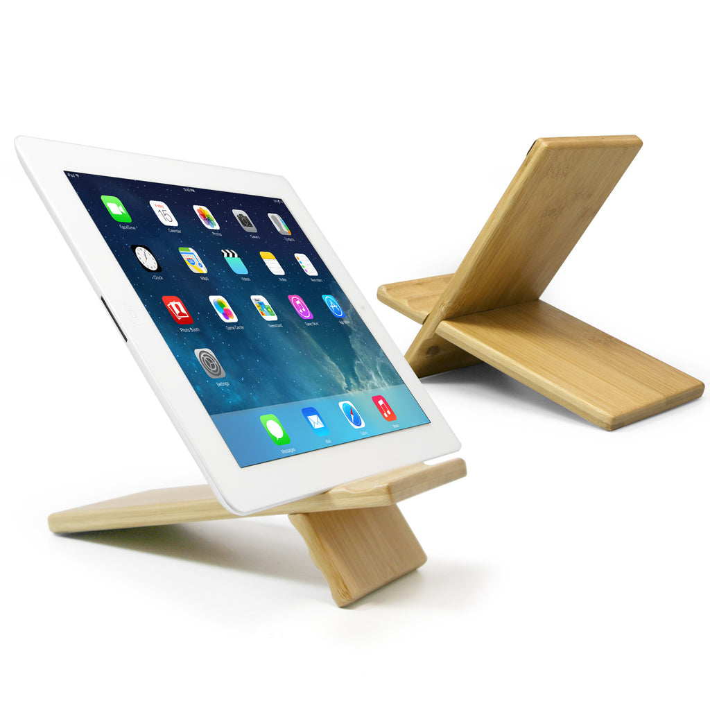 Bamboo Panel Galaxy Tab 3 V Stand A Two Piece 100 Samsung Large And Mount