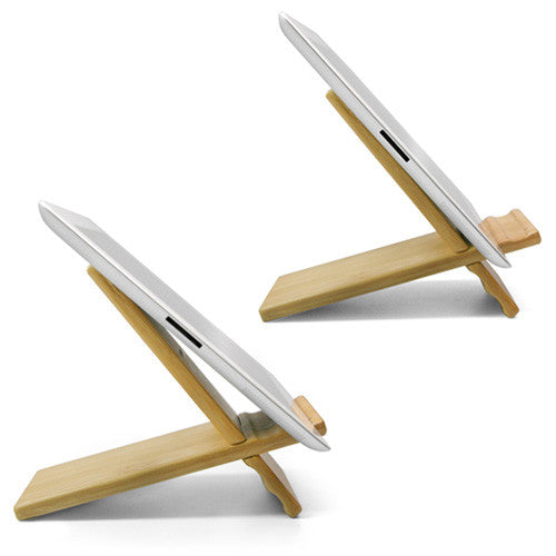 Bamboo Panel Stand - Large - Apple iPad 2 Stand and Mount