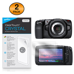 ClearTouch Crystal (2-Pack) - Blackmagic Pocket Cinema Camera 4K Screen Protector