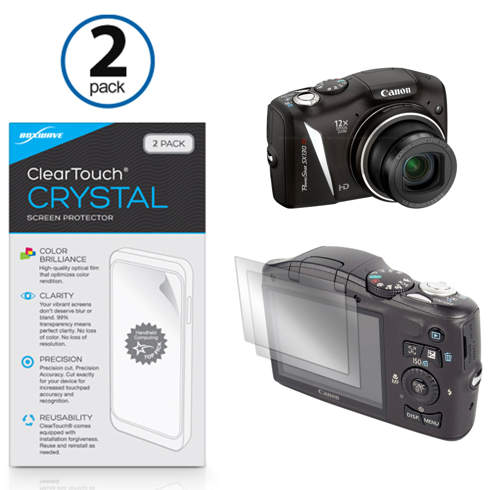 ClearTouch Crystal (2-Pack) - Canon PowerShot SX130 IS Screen Protector