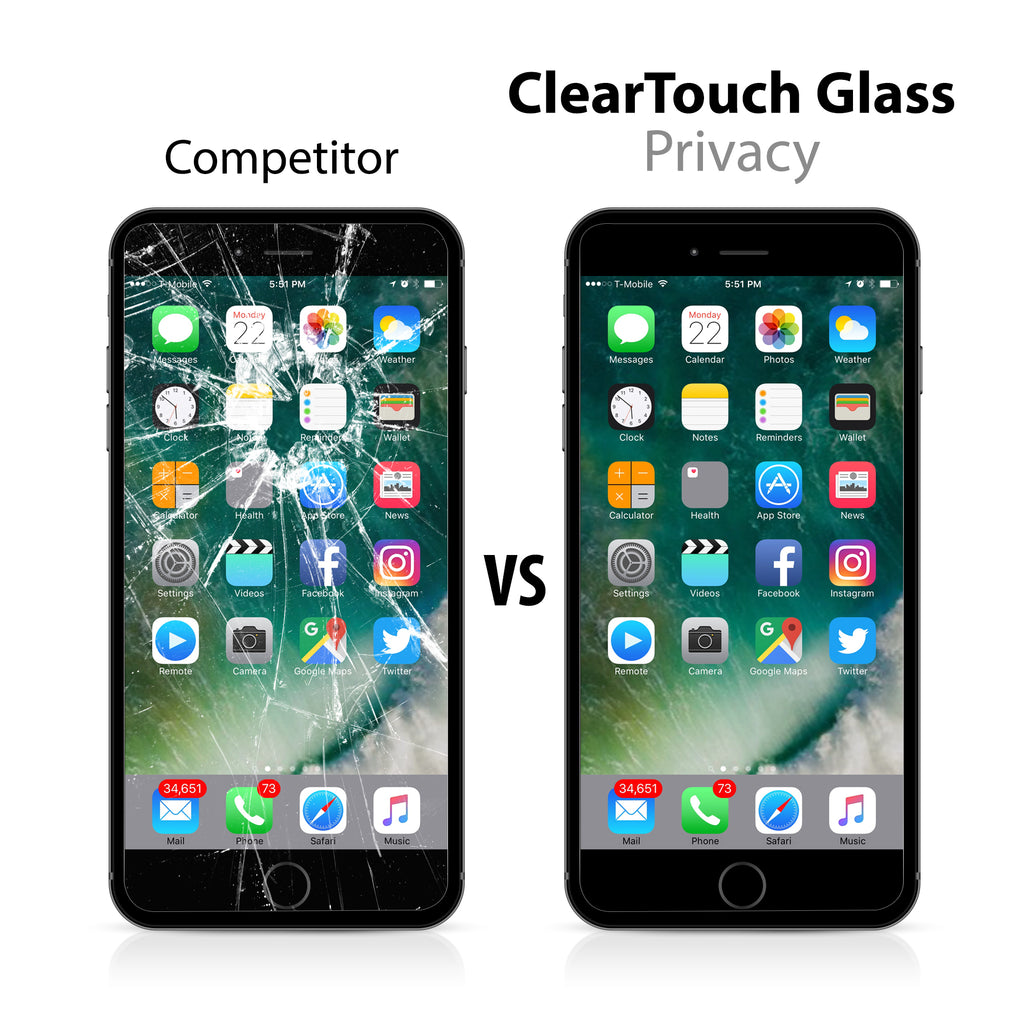 ClearTouch Glass Privacy - Apple iPhone 7 Plus Screen Protector