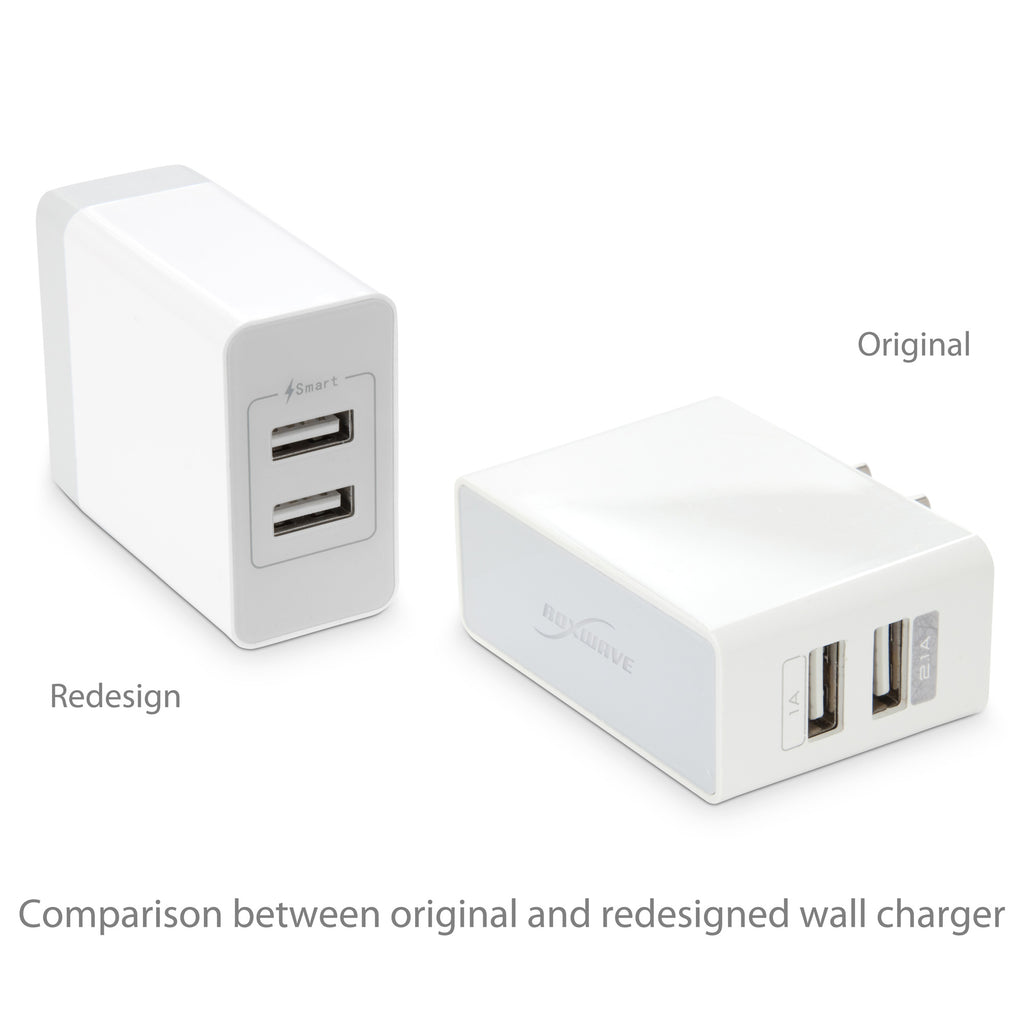 Dual High Current Wall Charger - Asus Zenfone 4 Max (ZC520KL) Charger
