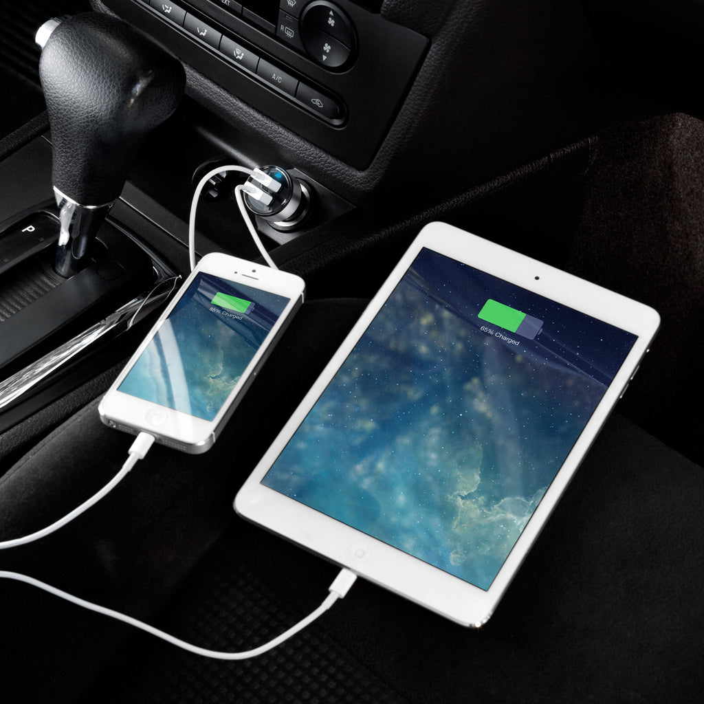 Dual-Port Rapid USB Car Charger - Apple iPad Charger