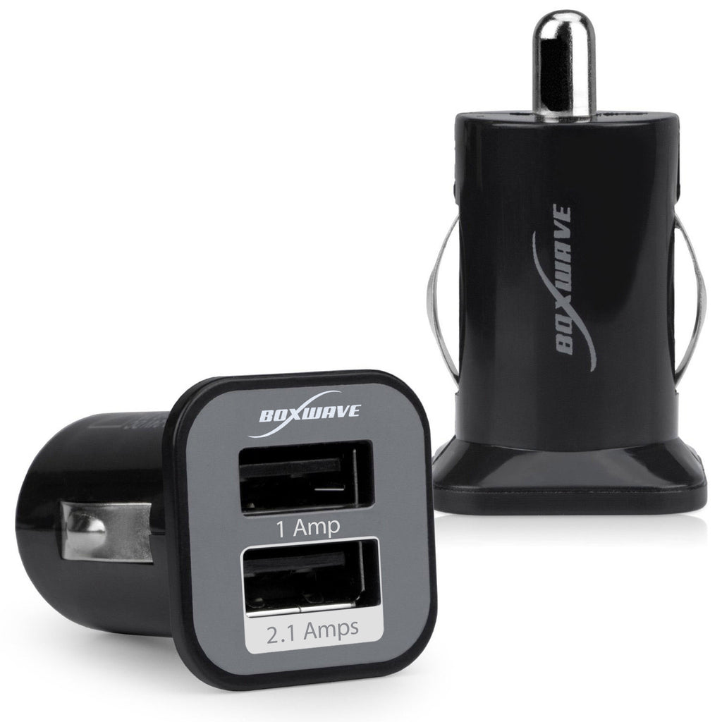 Dual Micro High Current Car Charger - BlackBerry Curve 9350 Charger