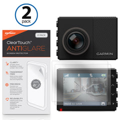 ClearTouch Anti-Glare (2-Pack) - Garmin Dash Cam 65W Screen Protector