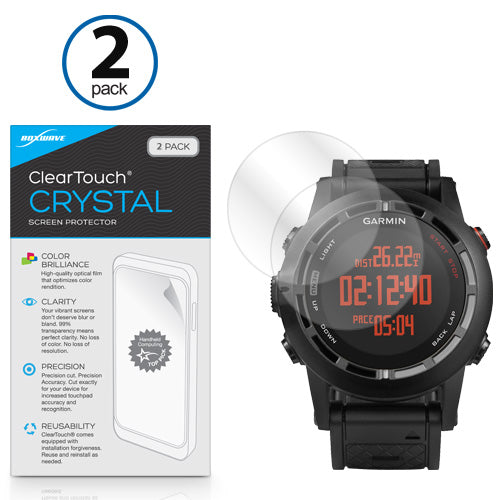 ClearTouch Crystal (2-Pack) - Garmin Fenix 2 Screen Protector