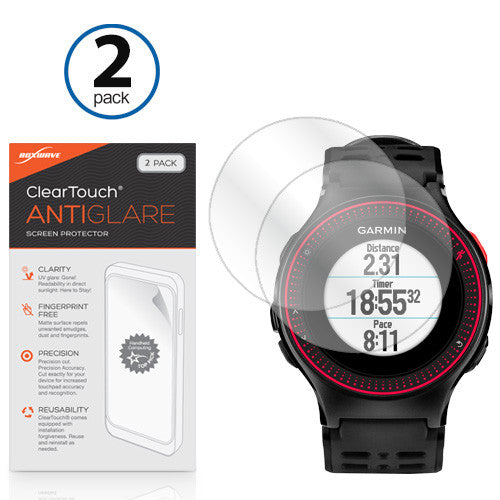 ClearTouch Anti-Glare (2-Pack) - Garmin Forerunner 225 Screen Protector