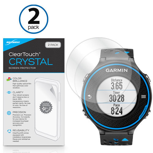 ClearTouch Crystal (2-Pack) - Garmin Forerunner 620 Screen Protector