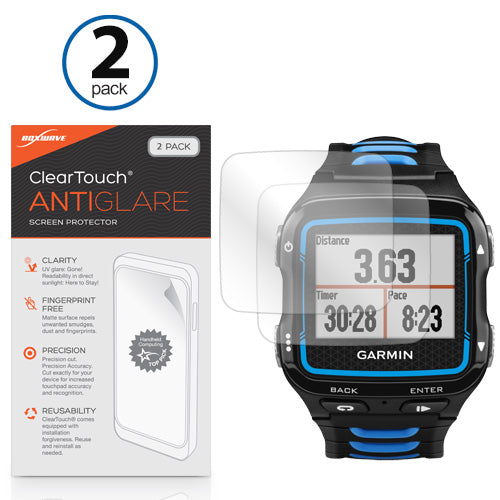 ClearTouch Anti-Glare (2-Pack) - Garmin Forerunner 920XT Screen Protector